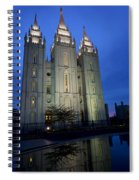 Reflective Temple Spiral Notebook