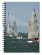 Regatta In Charleston Harbor Spiral Notebook