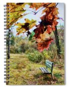 Relax And Watch The Leaves Turn Spiral Notebook