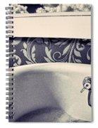 Relax In Blue Spiral Notebook