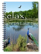 Relax Lake Time-jp2737 Spiral Notebook