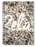 Relax Seashell Background Spiral Notebook