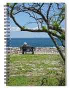 Relaxing By The Shore Spiral Notebook