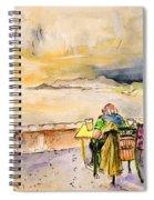 Relaxing In Cala Ratjada Spiral Notebook