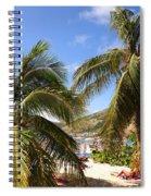 Relaxing On The Beach. Pinel Island Saint Martin Caribbean Spiral Notebook