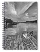 Relaxing On The Dock Spiral Notebook