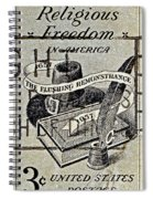 Religious Freedom In America - Persevering Spiral Notebook