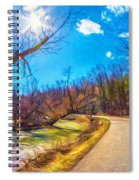 Reluctant Ontario Spring 3 - Paint Spiral Notebook