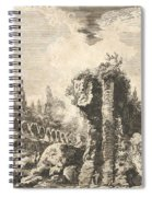 Remains Of The Temple Of Castor And Pollux Spiral Notebook