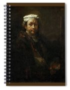 Rembrandt At The Easel Rembrandt Harmenszoon Van Rijn Spiral Notebook