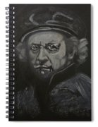 Rembrandt Black And White Spiral Notebook