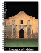 Remember The Alamo Spiral Notebook