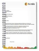 Remix - Letterhead Spiral Notebook