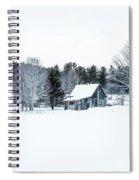Remote Cabin In Winter Spiral Notebook