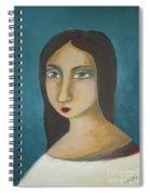 Renaissance Girl Spiral Notebook