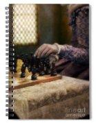 Renaissance Lady Playing Chess Spiral Notebook