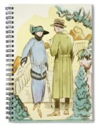 Rendezvous, Outfit And Ulster Overcoat  Spiral Notebook