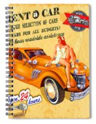 Rent A Car Spiral Notebook