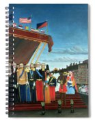 Representatives Of The Forces Greeting The Republic As A Sign Of Peace Spiral Notebook