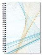 Research Computer Graphic Line Pattern Spiral Notebook