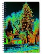 Residential Spokane In Cosmic Winter Spiral Notebook