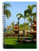Resort Fountains Spiral Notebook