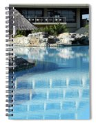 Resort With Swimming Pool Spiral Notebook