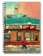 Restaurant Greenspot Deli Hotdogs Spiral Notebook