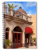 Restaurant In The Plaza Spiral Notebook