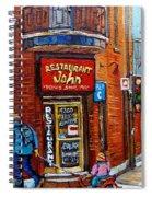 Restaurant John Montreal Spiral Notebook