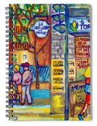Restaurant La Tortilleria Du Marche Montreal Watercolor Streetscenes Little Italy Paintings Cspandau Spiral Notebook