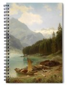 Resting By The Mountain Lake Spiral Notebook