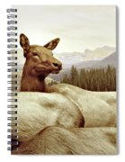 Resting Deer Spiral Notebook