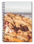 Resting On A Cliff Near The Ocean Spiral Notebook