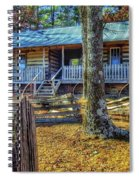 Restored Log Cabin Spiral Notebook