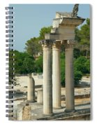 Restored Roman Columns In Glanum Spiral Notebook
