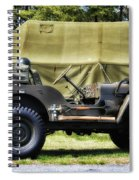 Restored Willys Jeep And Tent At Fort Miles Spiral Notebook