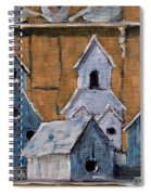 Retired Bird Houses By Prankearts Fine Arts Spiral Notebook