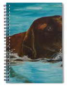 Retriever Play Spiral Notebook