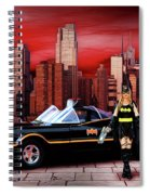 Retro Bat Woman Spiral Notebook