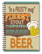 Retro Beer Sign-jp2917 Spiral Notebook