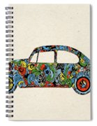 Retro Beetle Car 3 Spiral Notebook