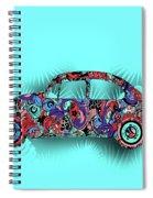 Retro Beetle Car 5 Spiral Notebook