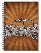 Retro Beetle Car Spiral Notebook