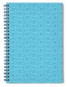 Retro Blue Pattern Spiral Notebook