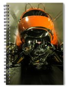 Retro Car In Orange Spiral Notebook