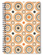 Retro Circles Pattern Spiral Notebook