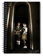 Retro Couple On Safari Spiral Notebook