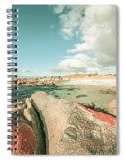 Retro Filtered Beach Background Spiral Notebook