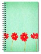 Retro Flowers Spiral Notebook
